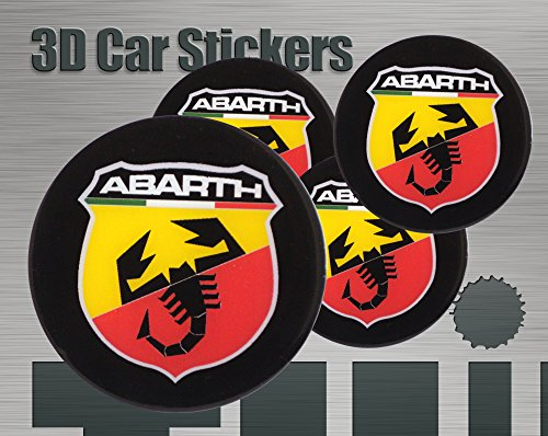 Abarth-logo (3D Aufkleber Abarth Logo Imitation Alle Größen Mittelkappen Radkappen (50 mm))