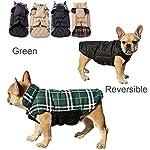 IREENUO Dog Reversible Plaid Coat Autumn Winter Warm Cozy Waistcoat British Style Dog Padded Jacket for Small Medium… 8