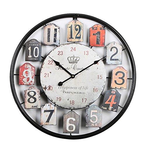 Tosbess 50CM Relojes de Pared Silencioso Grandes