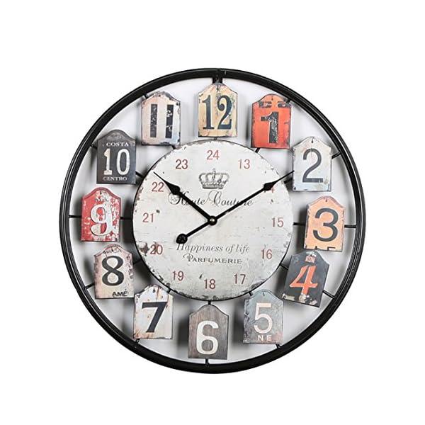 mecotech 50 cm m tal horloge murale xxl pendule murale design silencieuse horloge decorative. Black Bedroom Furniture Sets. Home Design Ideas