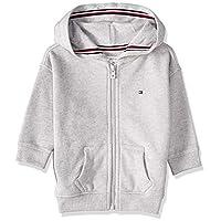 Tommy Hilfiger Girl's Essential Signature Zip Hoodie, Grey, 10 Years