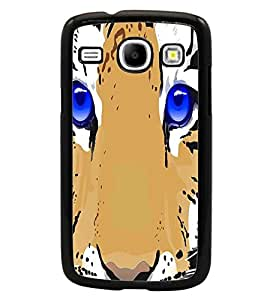 PrintDhaba Tiger Face D-2840 Back Case Cover for SAMSUNG GALAXY CORE i8262 (Multi-Coloured)