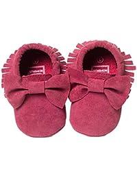 Zapatos Casuales,Logobeing Bebé Para NiñOs Bowknot Borlas de Cuna,ReciéN Nacidos Primeros Pasos