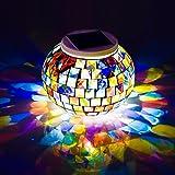 Solarleuchte Lampe, TechCode® Mosaik Glaskugel Garten Beleuchtung, Wasserdichte Farbwechsel im Freien Rasen Nachtlichter für Partys, Weihnachten, Haus, Hof, Indoor, Outdoor Dekorationen, Gift