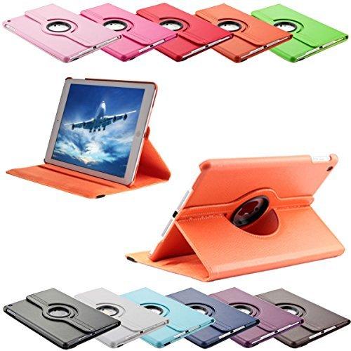 SVS-Trade 360 ° Tasche für Apple iPad 2/3 / 4 routierbar mit Ständerfunktion Schutz Smart Cover Case (iPad 2/3 / 4, Orange)