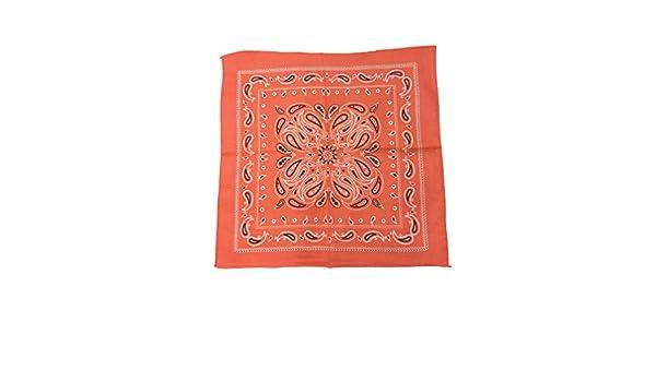 Benrise 12 Pack Cotton Bandana Multifunction Paisley Headbands Cowboy Bandana Handkerchiefs 55 by 55 cm Assorted 12 Colors
