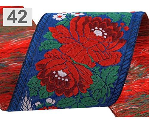 1m 1 Blauen Saphir Polyester Tracht Band Breite 70mm, Jacquard Gemusterten Bändern, Bänder Trimmen Und Einfügen Rohrleitungen, Hab -
