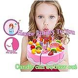 """Birthday Singing Cake Jouet - BigNoseDeer Play Party Cake avec la musique Chante """"Joyeux Anniversaire à vous"""" Bougie peut être souffler"""
