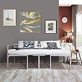 Aingoo Tagesbett mit Bettrahmen 2 Sitzer Couch mit Tisch Balkonbank