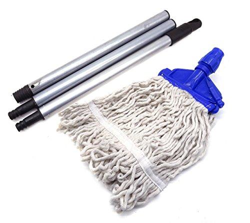 Home Essential Mopa de fibra natural resistente con clip en polvo revestido...