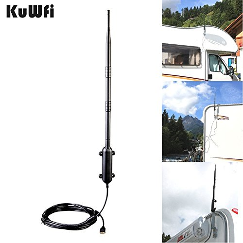 KuWFi 150Mbps Ralink RT3070 Max Distanz Outdoor Wireless USB 2.0 Adapter IEEE802.11b / g / n Wireless Antenne High Gain Wifi Rocket USB Adapter Mit 9Dbi 5M USB Kabel