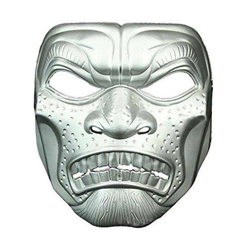 Maskerade,Halloween Film und Fernsehen Thema Horror Maske Schädel Kopf Erwachsenen Maske Spartan 300 Warrior Outdoor-Maske Silber Masquerade