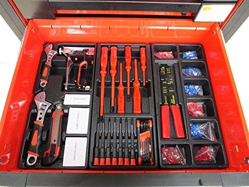 Bensontools Werkstattwagen 542 teilig Werkzeugwagen gefüllt Werkzeug 7 Kugelgelagerte Laden, 1 Stück, XL, 6333 - 6