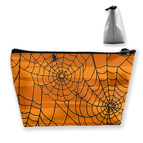 Trapez Reise Make-up Taschen Kulturbeutel Tragbare Stiftetui Fall Scary Halloween Spiders Carry Case