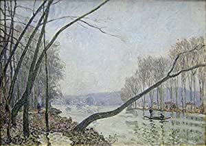The Museum Outlet - Banks of the Seine in Autumn - Canvas (Medium)