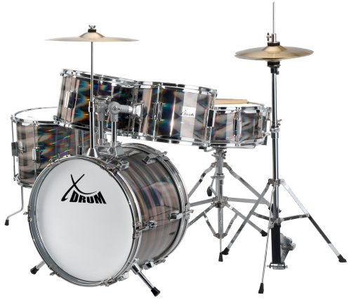 XDrum Junior Pro - Set de batería, color plata