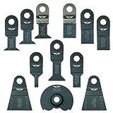 12 x TopsTools RVK12 Mix Lames pour Draper MT250A 23038, MT250 31328, Wickes 235510, Renovator Multitool Outil multifonctions Accessoires
