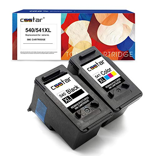 CSSTAR Wiederaufbereitet Druckerpatronen Ersatz für Canon PG-540XL CL-541XL für Pixma MG4250 MG3650 MX535 MG3550 MX395 MG3500 MG3250 MX375 MG3600 MX455 MX435 MG3150 MX515 MG2250 Drucker, Schwarz Farbe