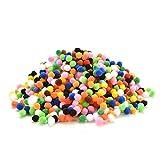 Buytra 1000pcs Assorted Mixed Color Soft Fluffy Pom Poms Pompoms