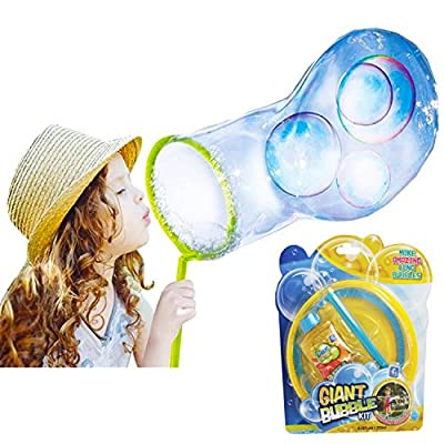 The Magic Toy Shop Giant Bubble Fun Amazing Kit Magic Enormous Huge Bubbles Gift Outdoor Garden Toy
