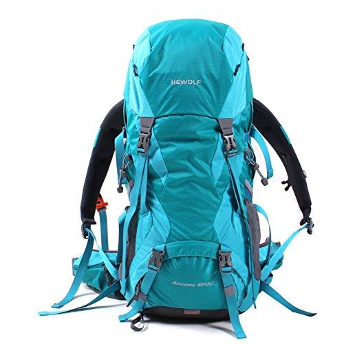 borse alpinismo esterno/zaino/Uomini e donne viaggiano zaino outdoor/Escursionismo zaino da montagna Camping-arancia 50L blu