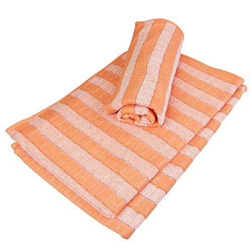 Bambus Geschirrtuch Trockentuch 3er SET orange