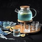 Vetro borosilicato teaware set acqua fredda grande capacità bottiglia di vetro freddo bevanda caraffa vino decanter birra vasetto succo bollitore latte brocca -Clear glass set 1000ml