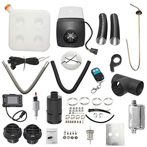 Mouchao 8kw / 12v Single LCD Mit Fernbedienung Schalldämpfer Diesel Lufterhitzer Black & White -