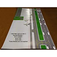Gemini Jets 1/400 & 1/200 FCAAL003 2 Sided Airport Layout Mats x 4 - 200cm x 110cm Total Size