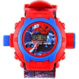 Generic Digital 24 Images Spiderman Projector Watch for Kids, Diwali Gift, Birthday Return Gift (Color May Vary)