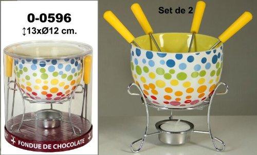 DONREGALOWEB DRW - Set 2 fondues cerámica Soporte