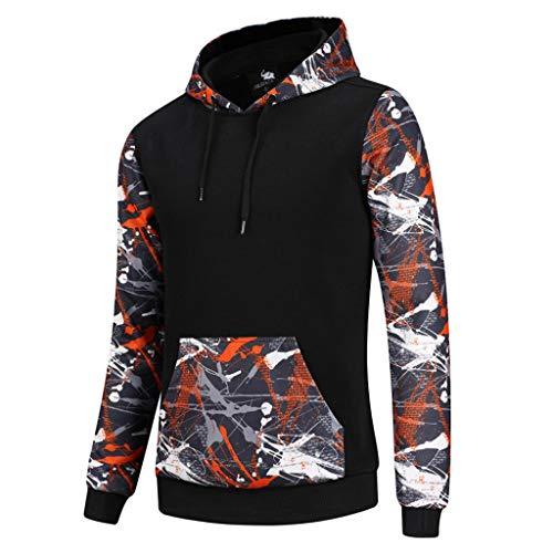 Amphia - Langärmeliger bedruckter Pullover mit Kapuze für Herren - Herren Herbst Winter Mode Druck Hoodie Lange Ärmel Sport Sweatshirt Tops