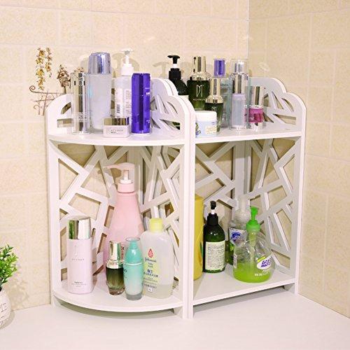 Bad Doppel Rack/Kosmetische Haut Pflege Produkte eingearbeitete finishing Regal/Desktop-Ecke Blumenständer/Racks-C