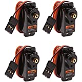 4 x ES08MA 9g Mini Metal Gear Servo for trex align 450 RC helicopter E