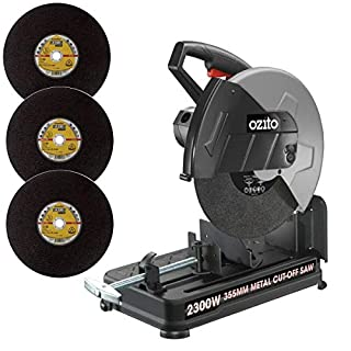Ozito 2300W 355mm Metal Cut Off Chop Saw 230v Plus 3 x Klingspor A330 Metal Cutting Discs!! Great Deal!!