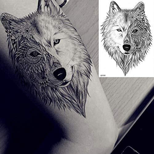 adgkitb 3 stücke Geometrische Raute Wolf Temporäre Tätowierung Aufkleber Dreieck Erde Berg Armband Tattoo Für Männer Frauen Kunst Tattoo Papier 10 21x15 cm
