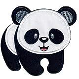 PatchMommy Panda Bär Patch Aufnäher Applikation Bügelbild - zum Aufbügeln oder Aufnähen - für...