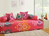 #7: Swayam Diwan Set with Bolster and Cushion Covers (Set of 6)