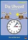 mindmemo Lernfolder - Die Uhrzeit lernen Grundschule Übungsheft Deutsch lernen Uhr für Kinder Lernhilfe Zusammenfassung PremiumEdition foliert DIN A4 6 Seiten plus Abhefter
