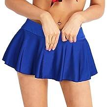 iEFiEL Mini Falda Sexy Plisada Deportiva con Braga Interior Tanga para  Mujer Disfraz de Animadora 0a5034fd19c96