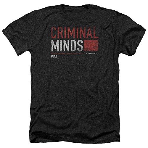 Criminal Minds TV Show CBS Title Card Adult Heather T-Shirt Tee