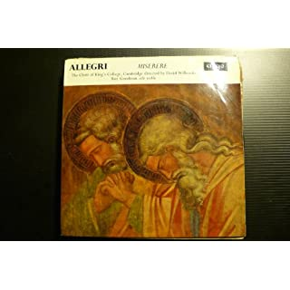 allegri miserere the choir of king's college, cambridge