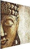 Impresión en cristal arte de pared - Vintage Buda - Cuadrado 1:1 impresión en...