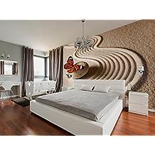 Fotomural vinilo pared Jardin Zen Arena Mariposa 200x150cm | Fotomurales pared | Fotomural Decorativo | Vinilo Decorativo | Decoración de comedores, salones | Diseño Elegante