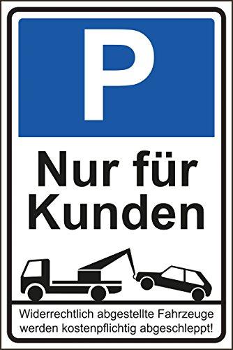 Parkverbot Parken verboten Schild Schilder -47s- Nur für Kunden 29,5cm * 20cm * 2mm, mit 4 Eckenbohrungen (3mm) inkl. 4 Schrauben (Kunden)
