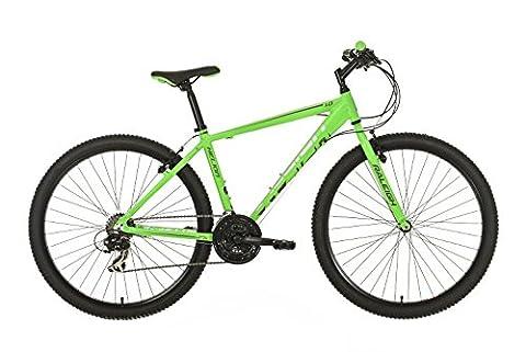 Raleigh Men's Helion 1 18 Speed Off Road Hardtail Mountain Bike, Green, 23-inch