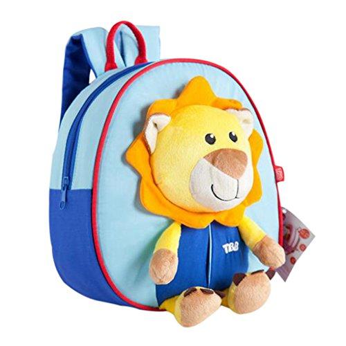 GWELL Süß 3D Tier Babyrucksack Kindergartenrucksack Backpack Schultasche Kleinkind Kinder Mädchen Jungen löwe