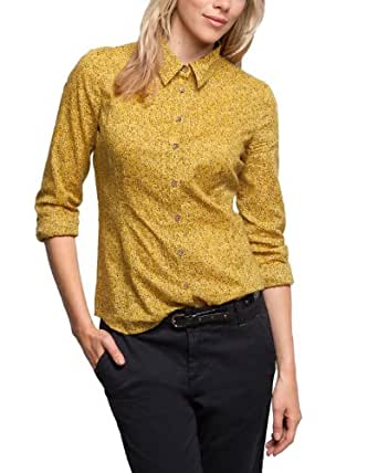 Comma CI Damen Bluse Regular Fit, All over Druck 88.309.11.8452 BLUSE LANGARM, Gr. 34 (XS), Mehrfarbig (15A6 yellow AOP)