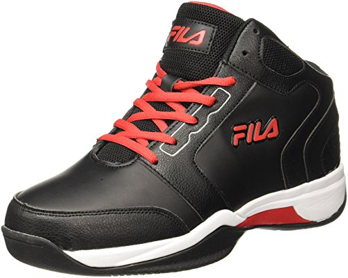 Fila Mens Commit 2 Black /Red Basketball Shoes - 8 UK/India (42 EU)