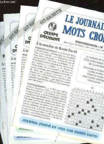 1 LOT DE 5 : LE JOURNAL DES MOTS CROISES - par COLLECTIF
